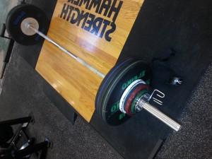 Vægtstængerne er klar til dødløft og squat