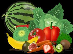 Grøntsager, bær og frugter er sundt