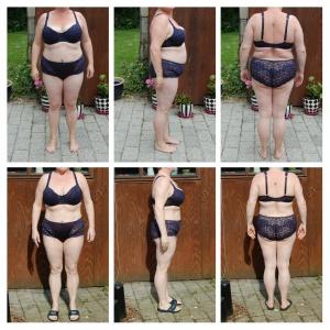 16 kilo vægttab, før efter billede